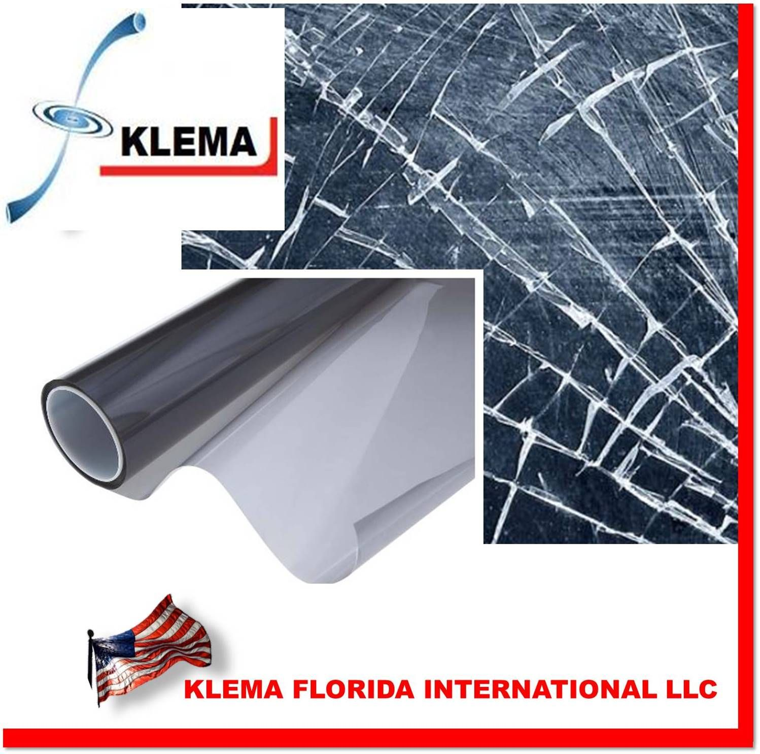 KLEMA SAFETY Security Window Film 37 years of Family experience to bring you the most reliable and effective line of security devices Our security films are designed to slow or prevent entry from a potential Break-In, also protects your values from UV, allowing them to stay like new for much longer time. Scratch-Resistant Coating Blocks 99% UV  WE ARE LOCATED IN MIAMI FLORIDA, THE BEST PRICES AND THE FASTEST SHIPMENTS More info at: http://www.klemallc.com/producto.php?idproducto=16
