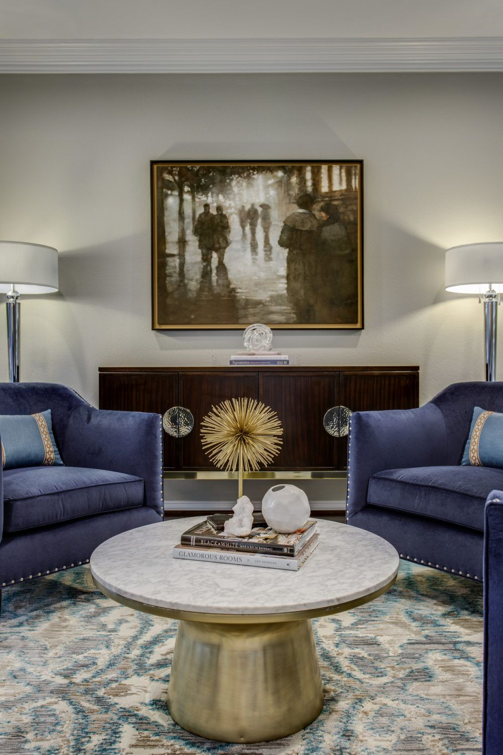 carry your accent color between rooms without looking