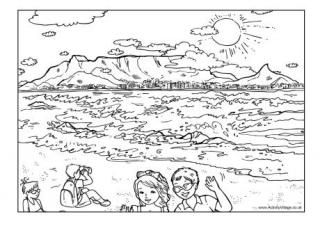 Table mountain colouring page kids colouring in pages for Mountain coloring pages for kids