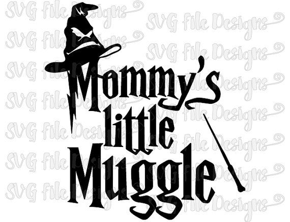 Mommy's Little Muggle Sorting Hat Wand Harry Potter Cutting File / Printable…
