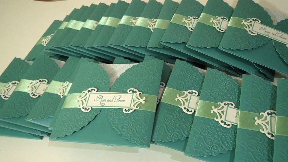 mint green wedding invitations philippines