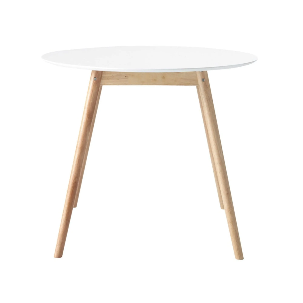 Tavolo Da Pranzo Rotondo Bianco 4 Persone 90 Cm Ronde Eettafel Vintage Eettafels Witte Eettafel