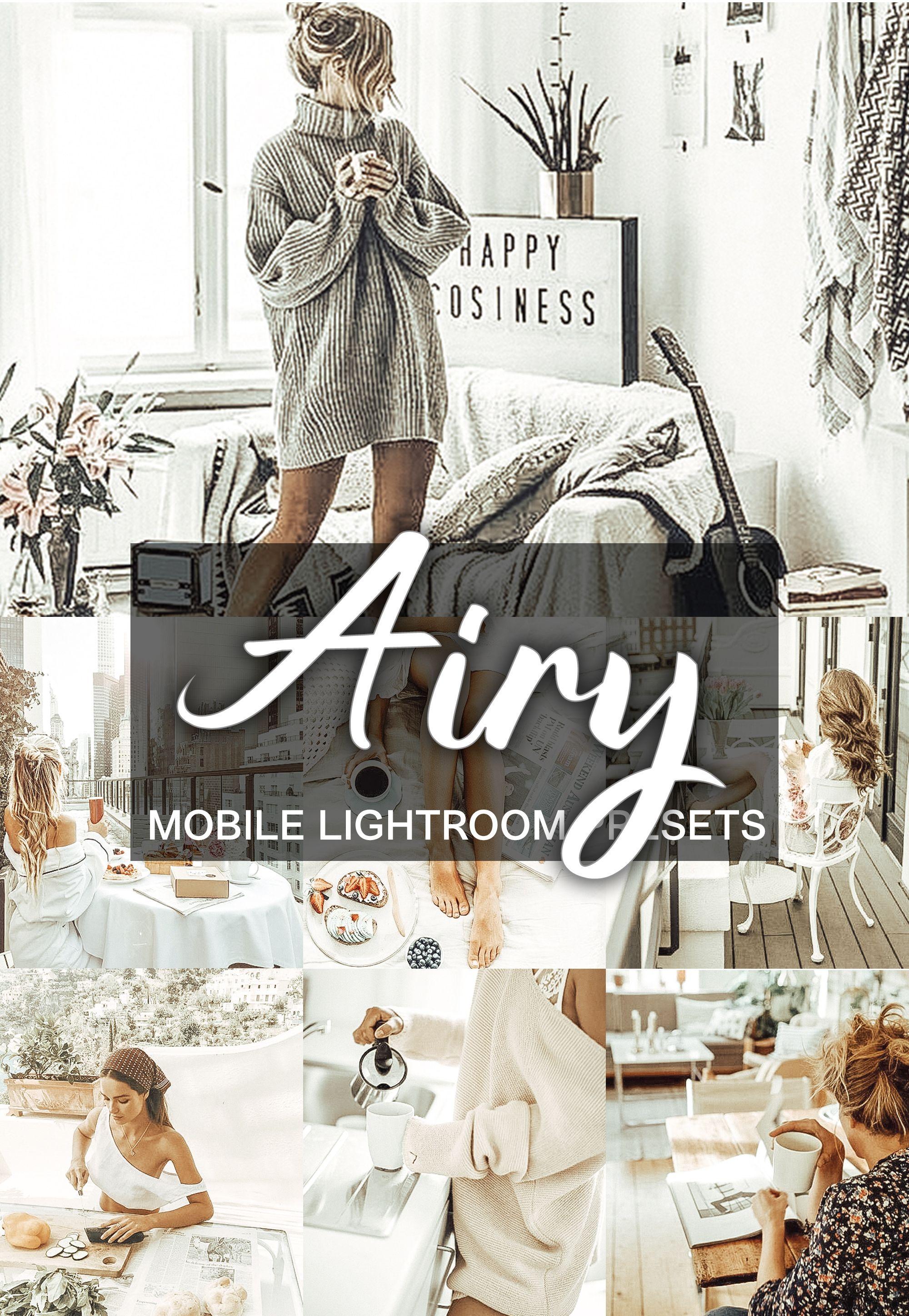 3 Mobile Presets AIRY Lightroom presets, Lightroom, Best