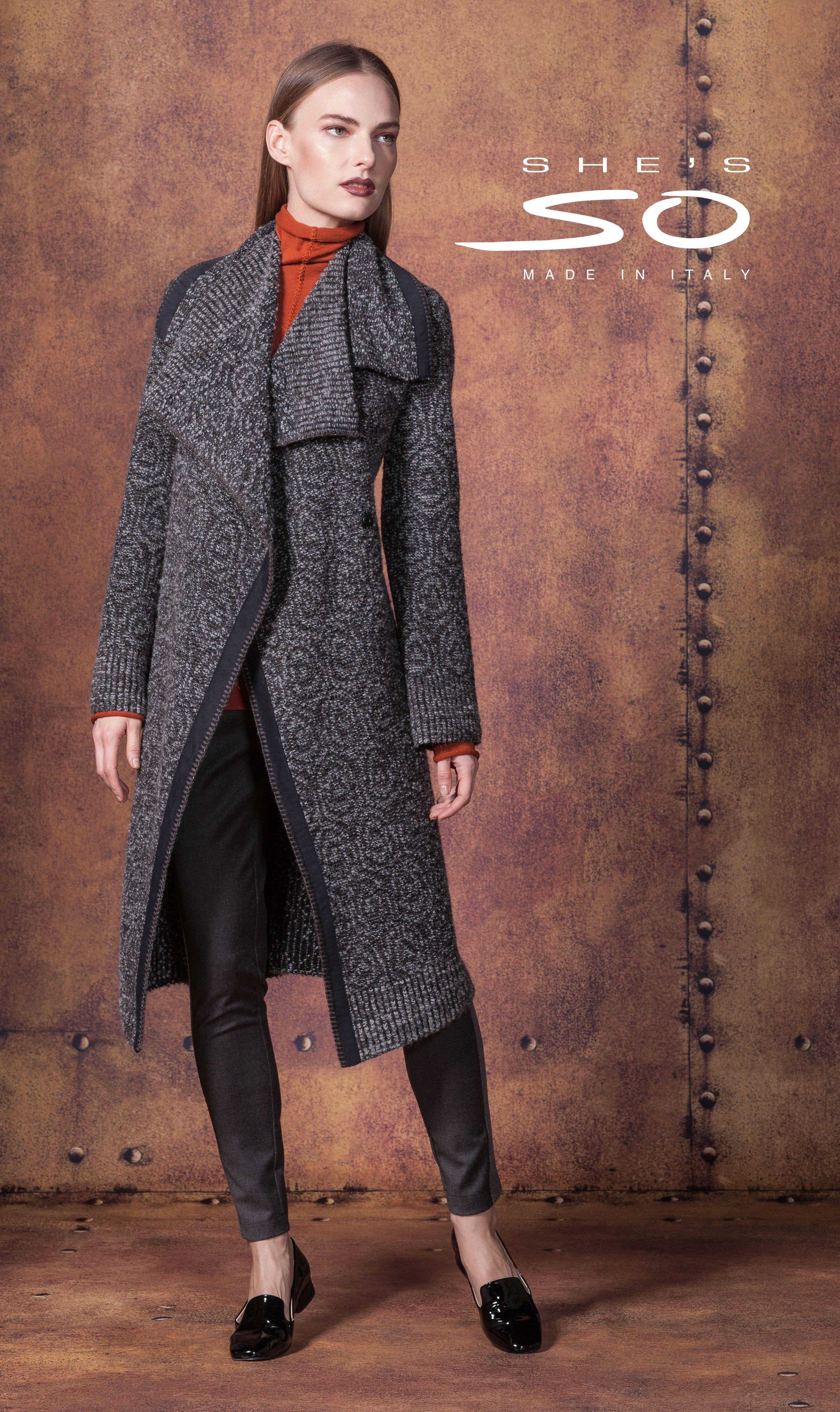 ad0aec3eb55f1d She's So knitwear collection #knitwear #fashion Moda Maglieria, Italia,  Giacche, Moda