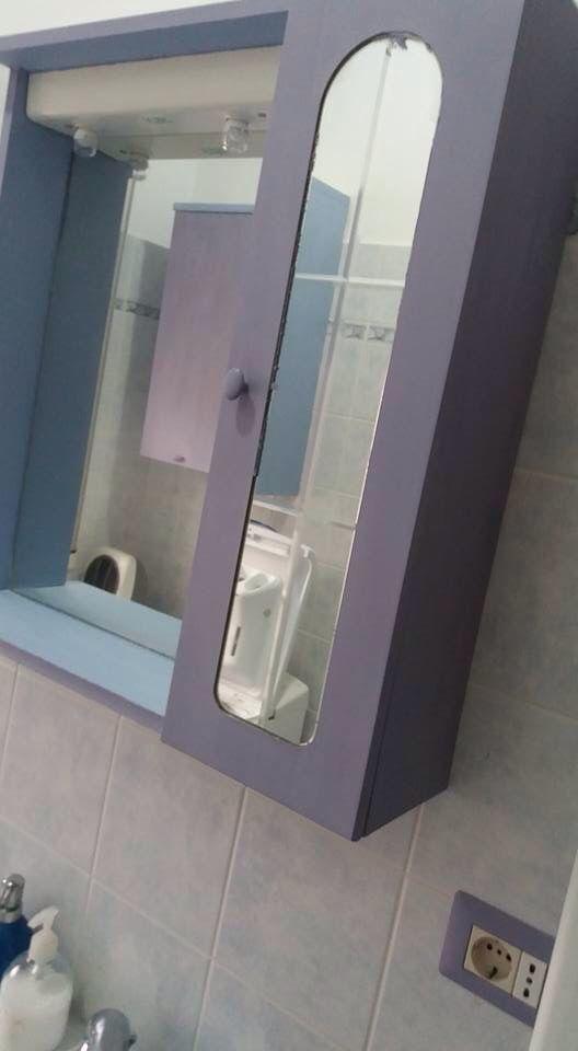 Mobiletto del bagno: louis blue nell\'interno; 2/3 louis blue e 1/3 ...