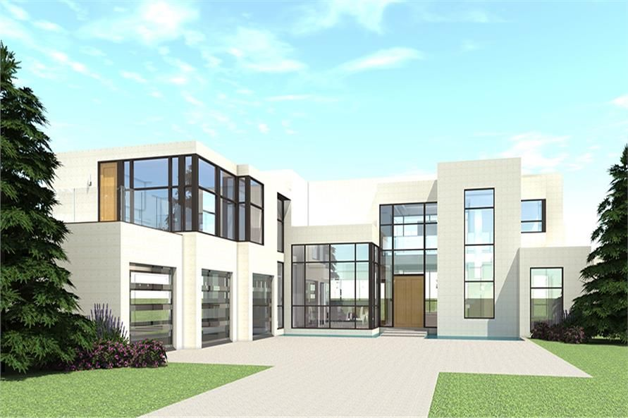 5 Bedroom Modern Farmhouse Plans: Luxury And Modern Concrete Block/ ICF Design Home. This