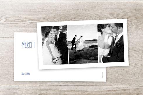 carte de remerciement mariage 3 photos panoramique by sibylle derkenne pour. Black Bedroom Furniture Sets. Home Design Ideas
