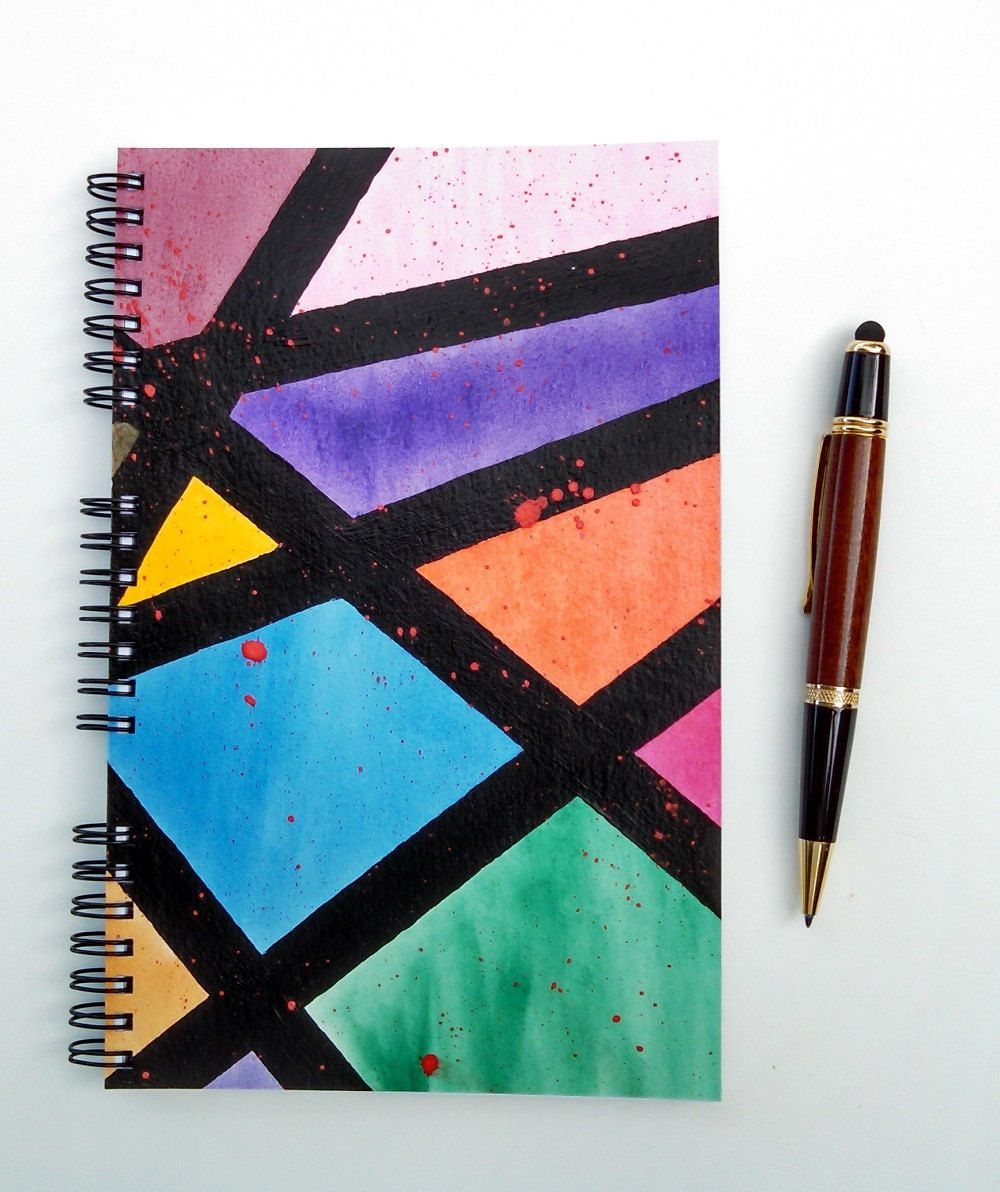 favorite notebook Leather notebook with tattoo abstract drawing on notebook art drawing back to college notebook for the artist
