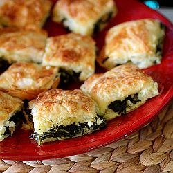 Spinach, Rapini, Collards - neither you or your guests will believe how good these appetizer pastries are, perfect for holiday entertaining.