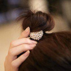 $1.85 Sweet Heart Shape Faux Pearl Hair Band