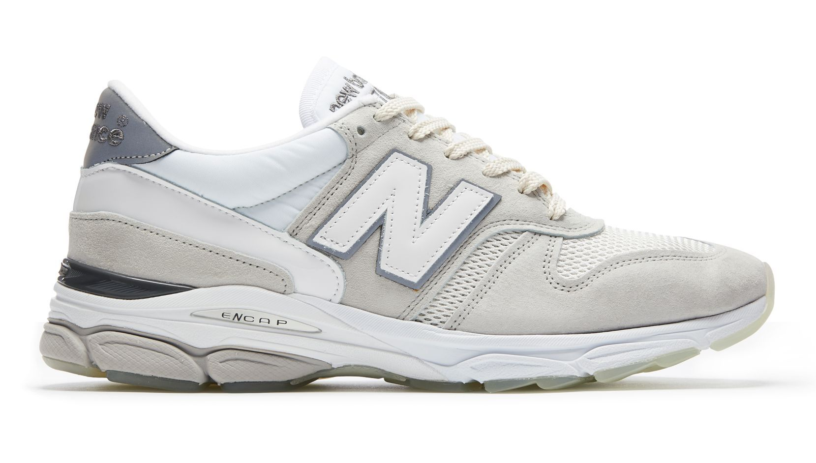 low priced 44685 96879 New Balance 770.9 Made in UK, White with Pale Grey ...