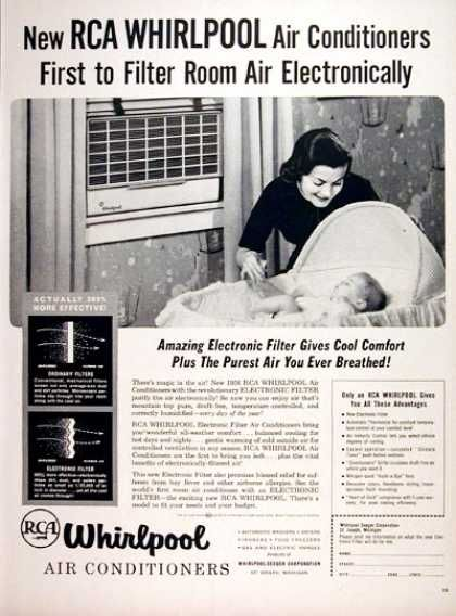 Whirlpool Air Conditioners 1956 Air Conditioner Vintage House Electronic Filters