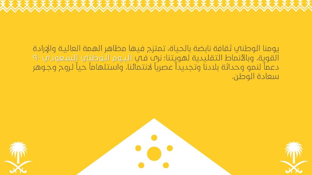 بوربوينت عن اليوم الوطني السعودي 90 همة حتى القمة 2 ادركها بوربوينت In 2020 Presentation Day National Day