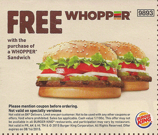 Burger King Coupons Promotions Specials Free Food Coupons Free Fast Food Free Fast Food Coupons