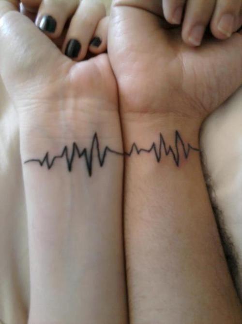 First Borns Heartbeat Tattoos Couple Tattoos Couples Tattoo