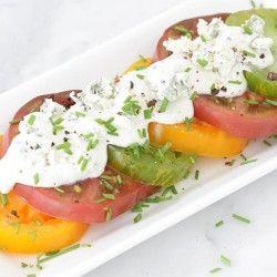 Heirloom Tomatoes + Blue Cheese  Gluten free Goodies