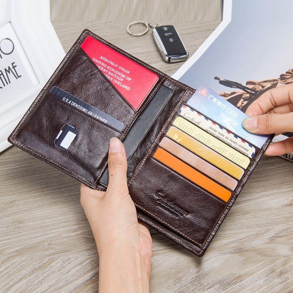 Genuine leather business travel wallet wallet passport