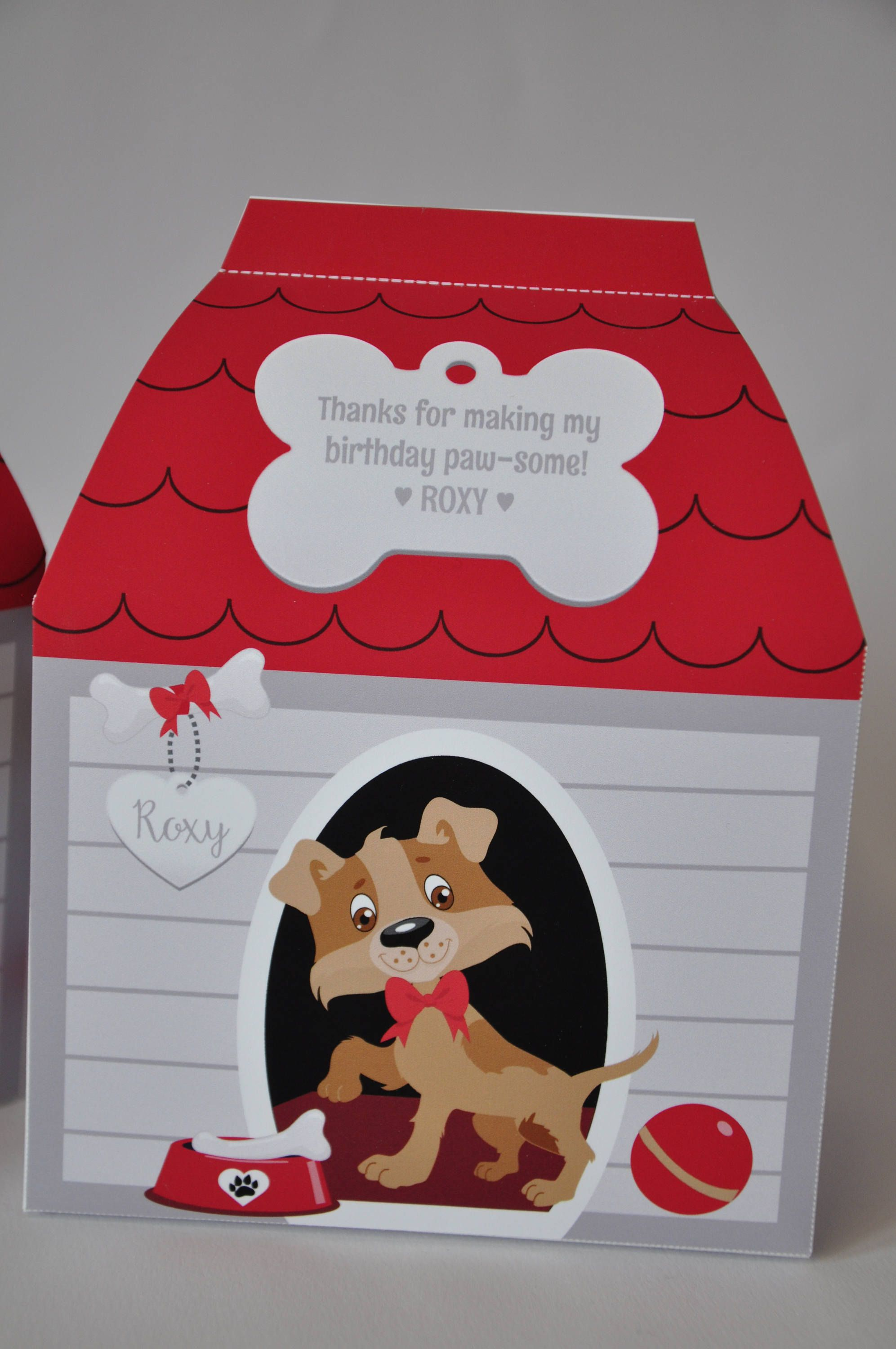 Puppy Dog House Favor Box Pdf Printable Doghouse Pet Spa Dog