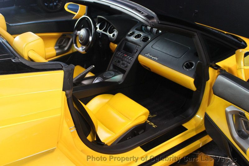 2008 Lamborghini Gallardo Spyder Yellow And Black Interior 8 Auto