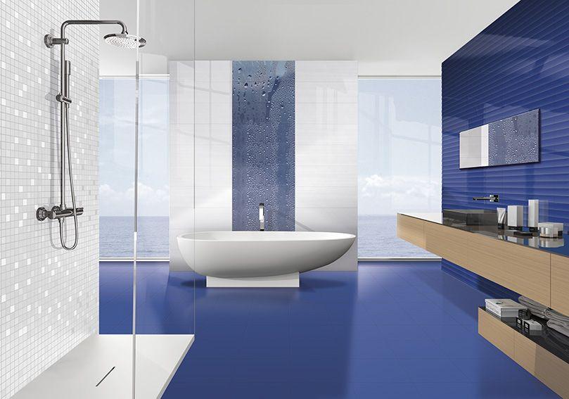 Groove waterfall royal blue ibero porcelanico price
