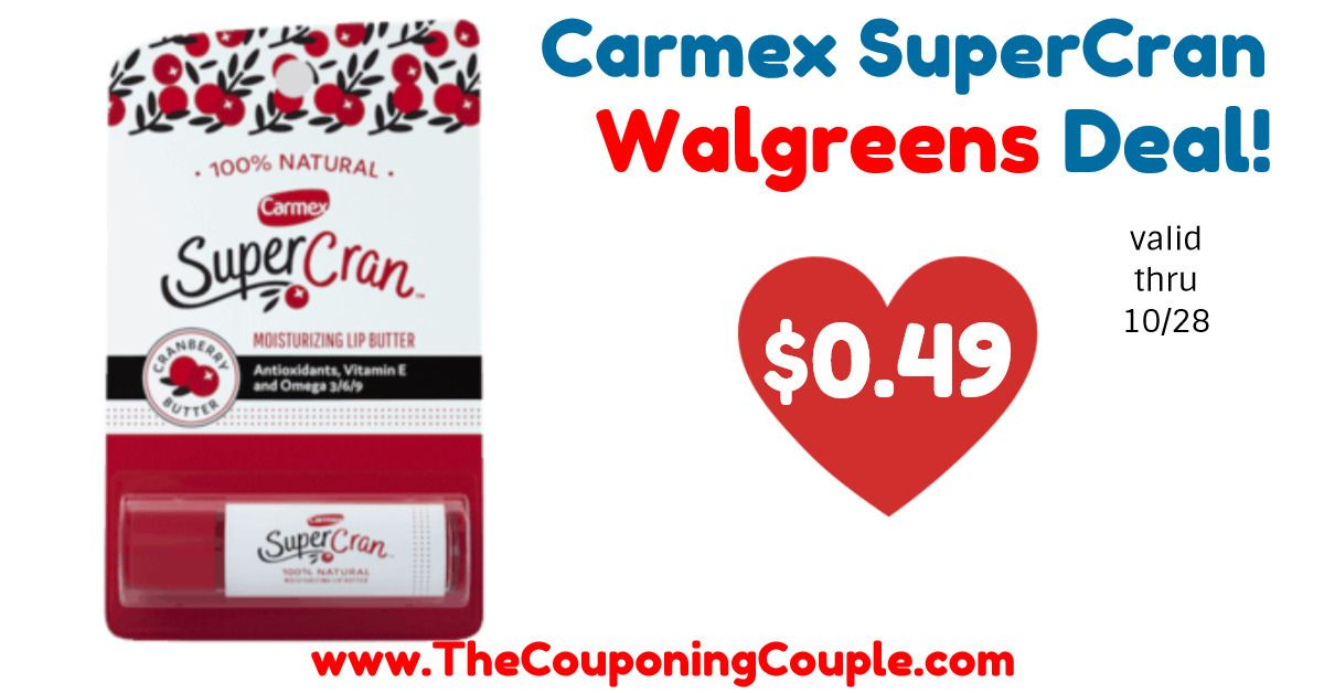 photograph about Coupongreat Com Printable Coupons titled Ideal Bundle upon Carmex SuperCran Lip Butters @ Walgreens