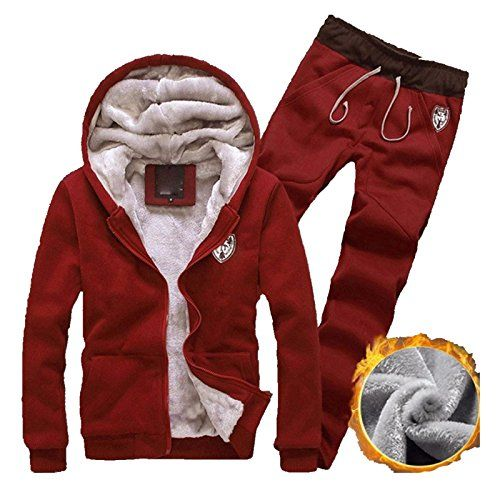 Men/'s Tracksuit Hooded Sweatshirt  Coat Jacket Hoodies Pants Sweat Suit New