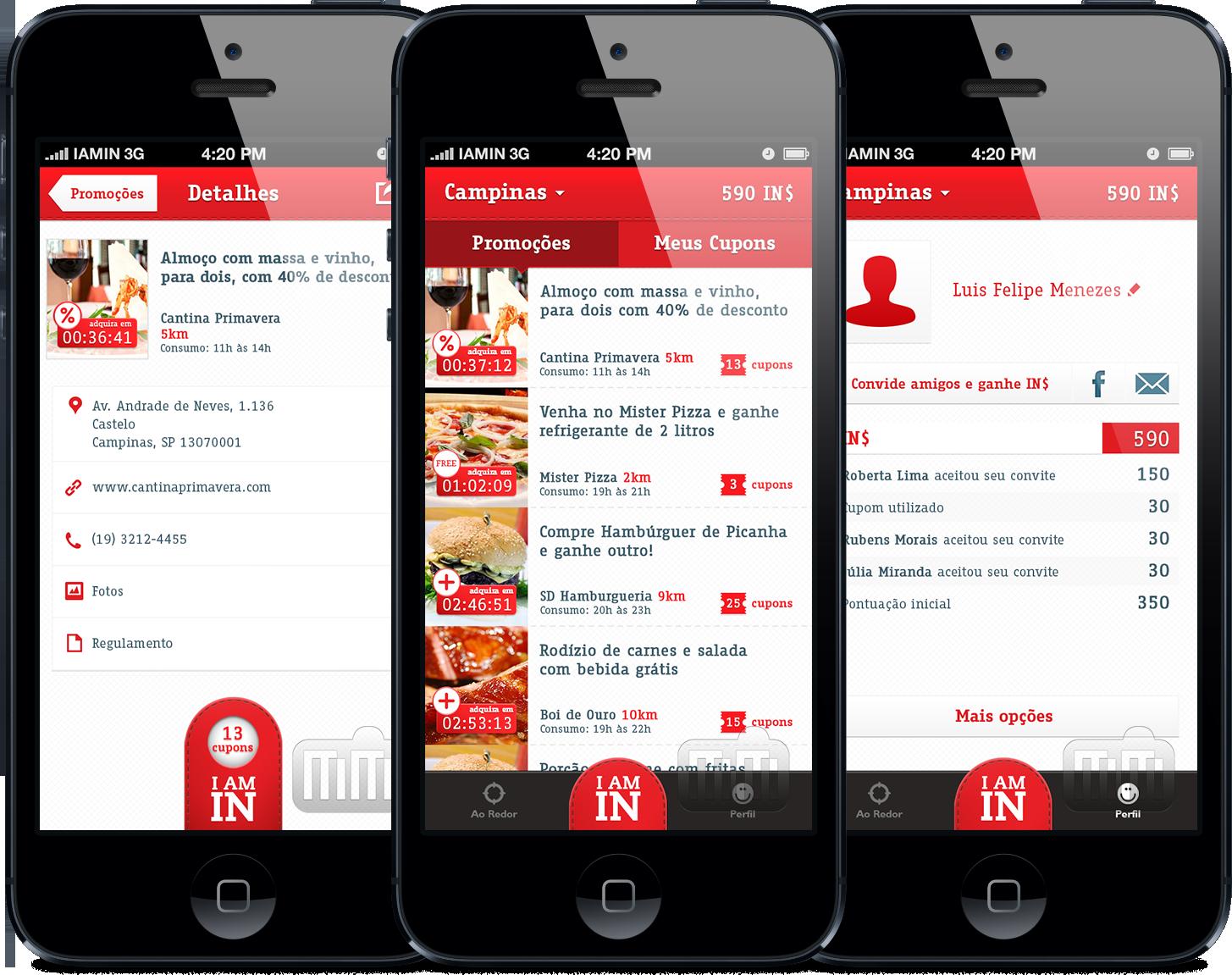 """Idealizada no agitado cenário de novas startups brasileiras, a """"I am in"""" funciona como uma """"rede social de cupons de descontos"""", na qual o consumidor usufrui de benefícios que vão além dos descontos e promoções. Por meio de um aplicativo para iPhone ou Android, o adquire cupons de descontos em forma de código QR. Após...<br /><a class=""""more-link""""…"""