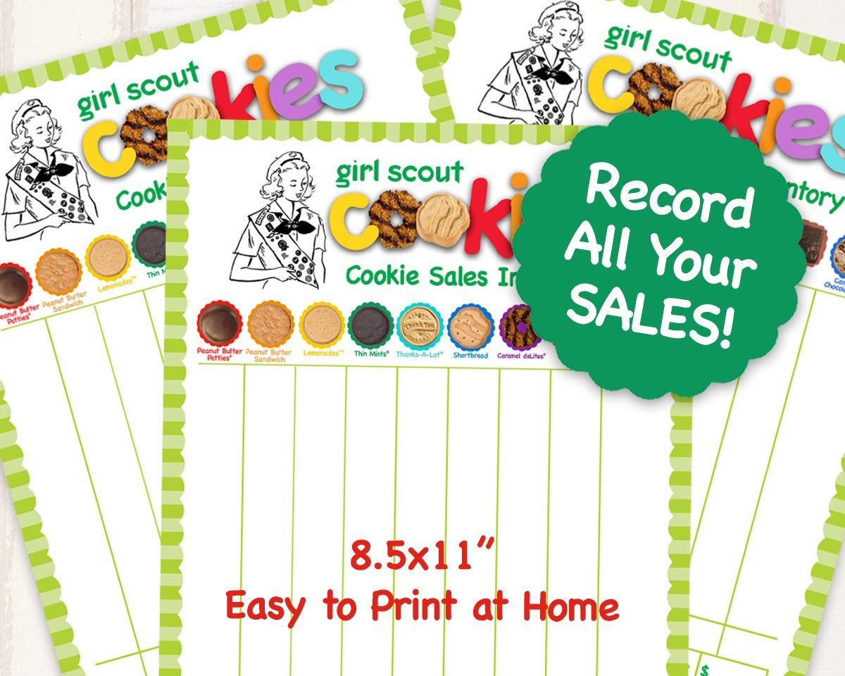 Abc Girl Scout Cookie Inventory List Printables Girl