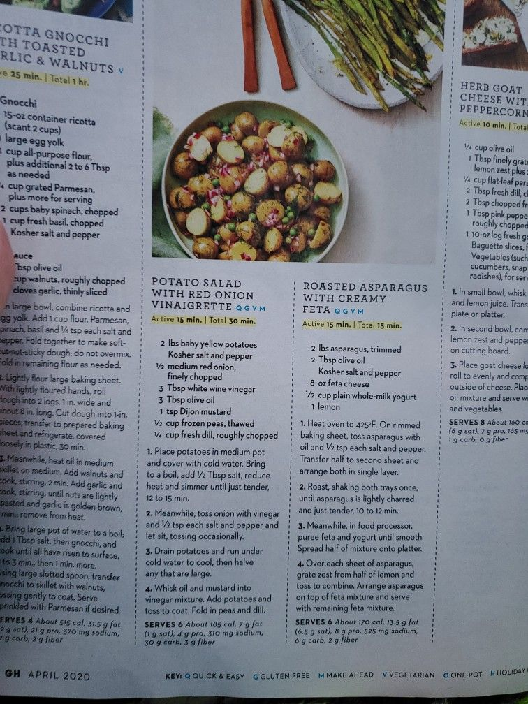 Potato Salad With Red Onion Vinaigrette By Good Housekeeping April 2020 In 2020 Vegetable Recipes Other Recipes Recipes