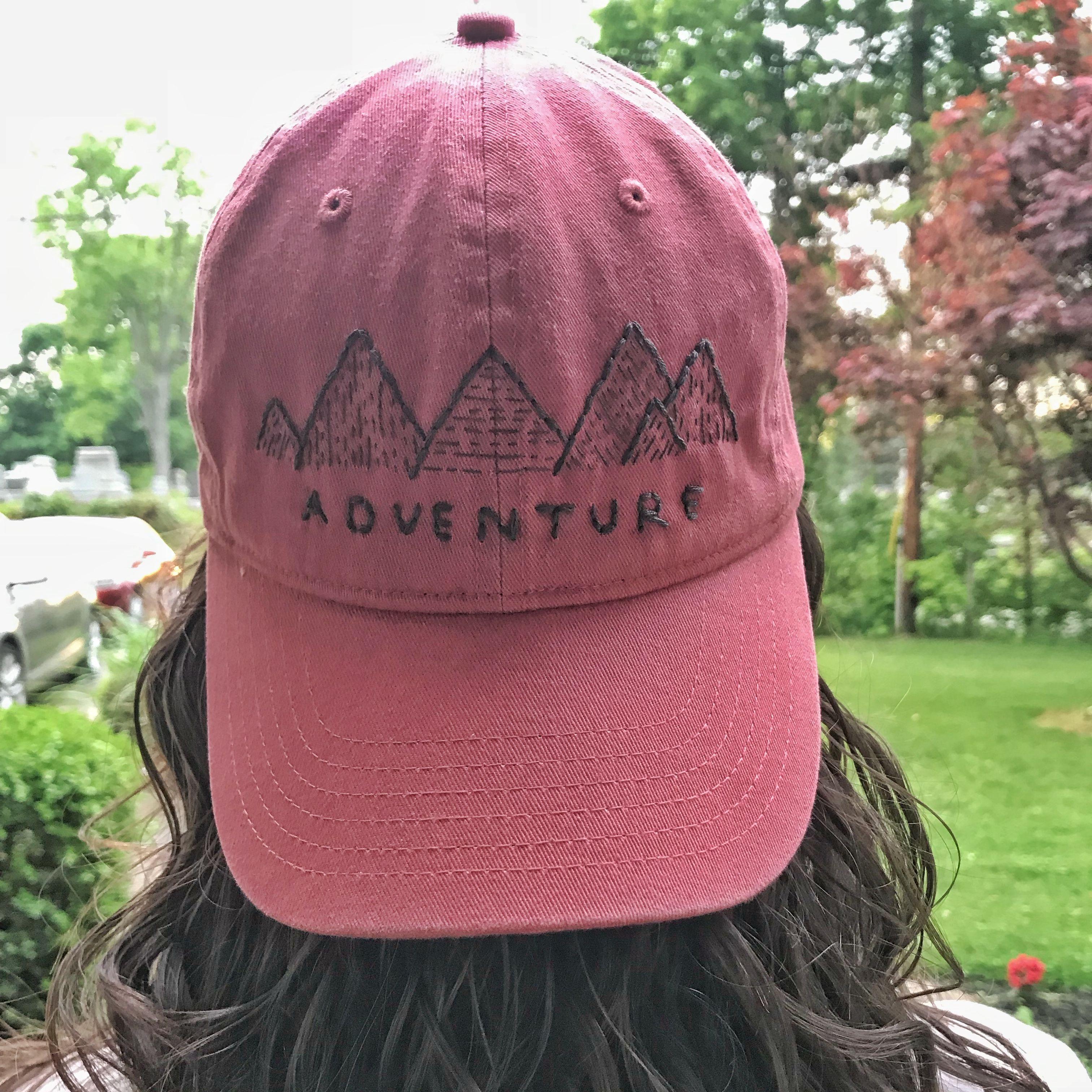 Outdoors Baseball Cap Women S Adventure Hat Hand Embroidery Adventure Hat Hat Embroidery Embroidered Hats