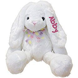 Plush Easter Bunny Kids Easter Gift Embroidered Child/'s Bunny Monogram Bunny Choose your color Personalized Easter Bunnies