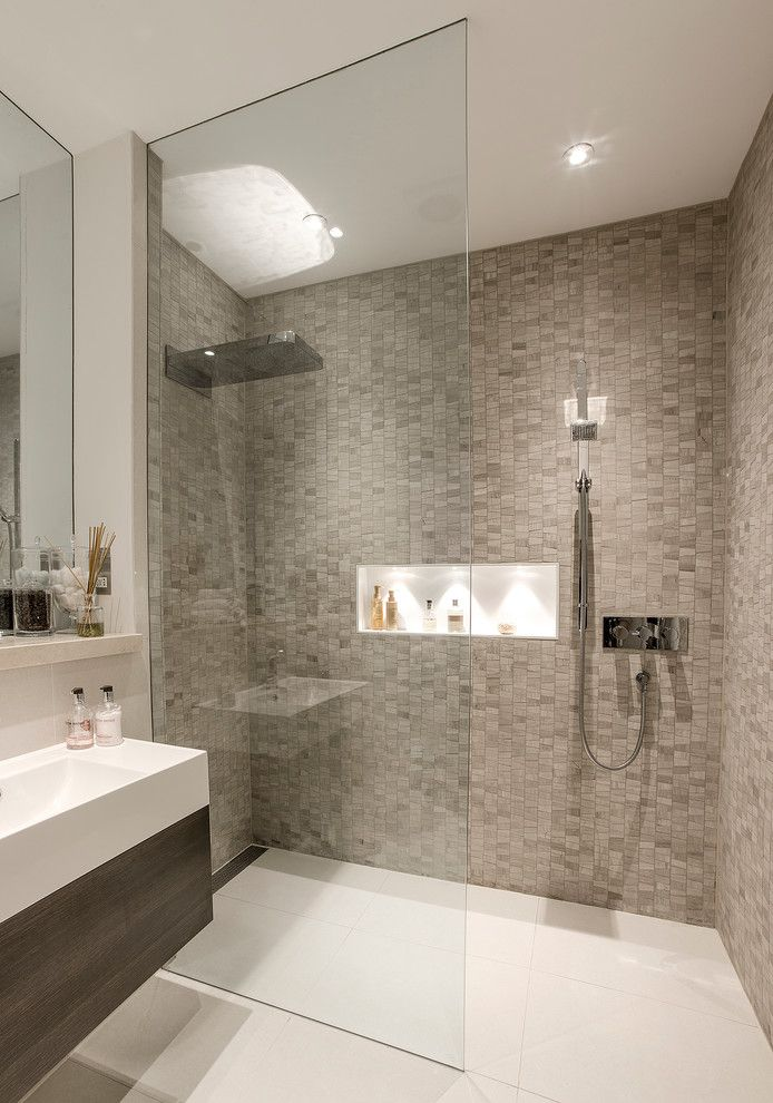 Walk in showers designs bathroom contemporary with for Walk in basement