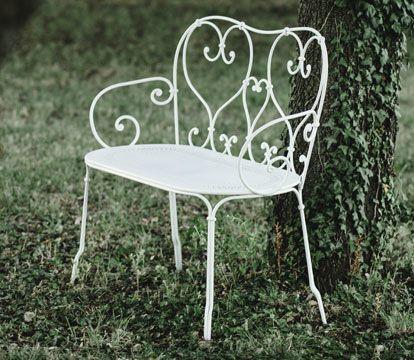 mobilier de jardin volutes, chaise metal, table de jardin, table ...