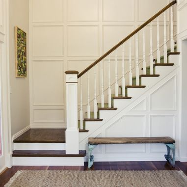 Tiek Built Homes S Design Ideas Pictures Remodel And Decor Staircase Remodel Staircase Design Wainscoting Stairs