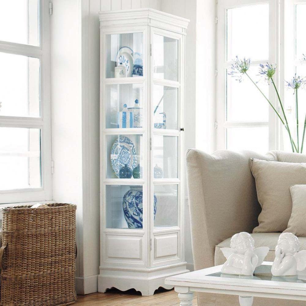 Vitrine en bois de paulownia blanche L 49 cm | Decorate