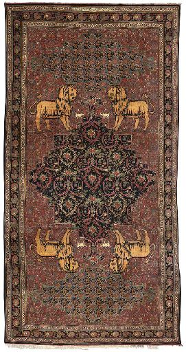 A LARGE BIDJAR CARPET  SIGNED SULTANAT, WEST PERSIA, DATED AH 1341/1922 AD  full pile, overall excellent condition 25ft.8in. x 13ft. (782cm. x 396cm.)  Sold at Christies for $59311 - 28 April 2005