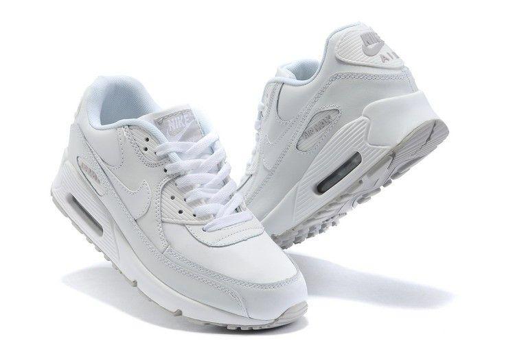 Zapatillas de hombre Nike Air Max 90 blancas | Hombres nike ...