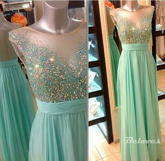 "Fabric:Chiffon Neckline:illusion+Neckline Color:+Light+Green Silhouettes:+A+Line Embellishments:Beading Back+Detail:Sheer+Back Occasion:+Prom+,Evening,Cocktail++++++ Custom+Made+:+We+also+accept+custom+made+size+and+color+.+Please+click+the+""contact+us+""and+send+your+size+and+color+to+our+..."