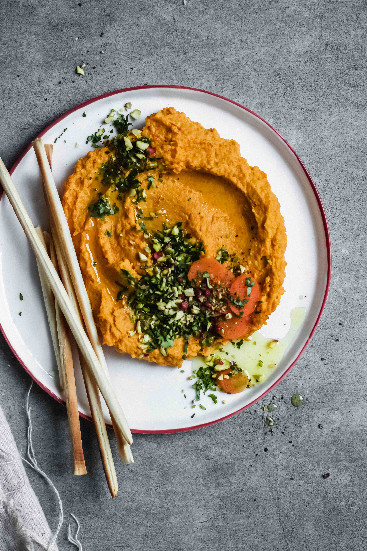 Gerösteter Karotten-Hummus #foodsides