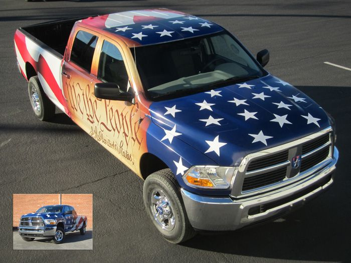 Patriotic Jack Vehicle Wrap Design Printing And Installation - Graphics for cars and trucks