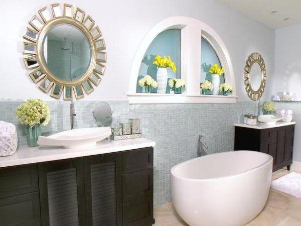 20 Deko Ideen fürs Badezimmer \u2013 Dekorative Wandakzente und