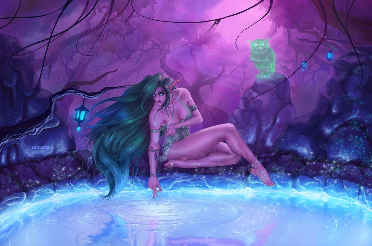Night Elves Scene By Lazarusreturns On Deviantart