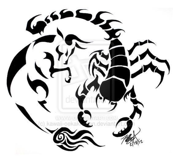 2f2d4bfe467e7 Taurus and Scorpio: Tattoo Design by ~kawaii-oekaki-chan   Possible ...