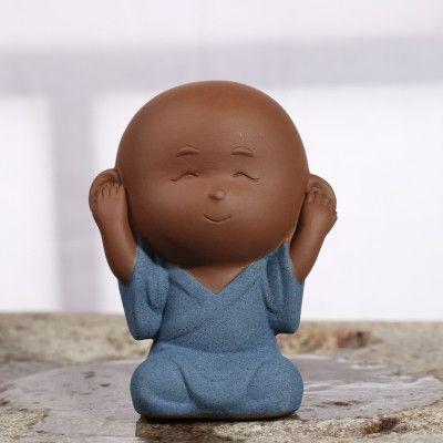 Zen Monk Cute Ceramic Figurine
