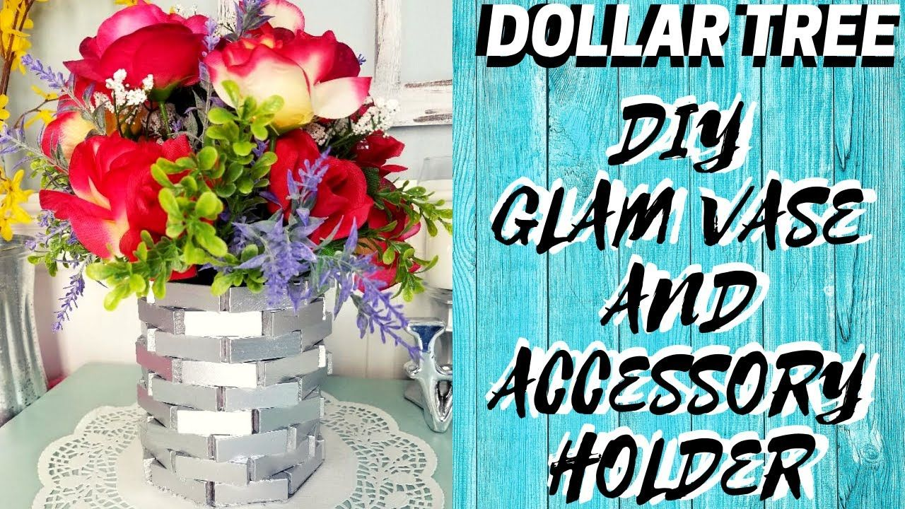 DIY DOLLAR TREE GLAM VASES Create Two Vases/Accessory