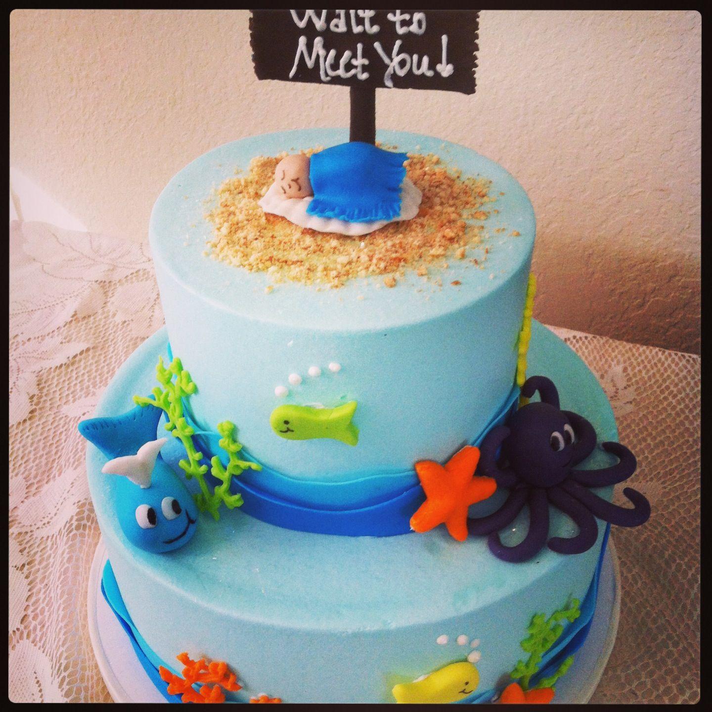 Ocean Themed Baby Shower Cake Birthday Cakes Etc In 2018