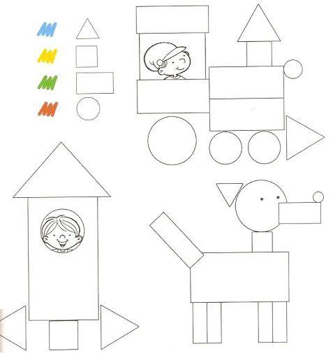 Coloriage Des Formes Apprendre Autrementlearn Pinterest Maths