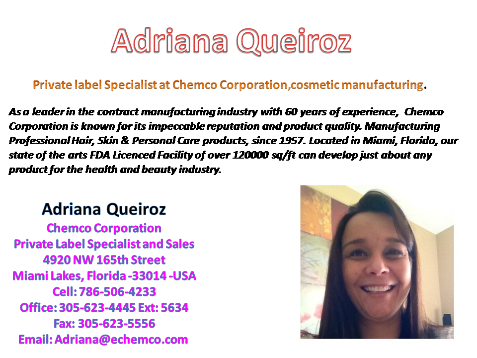 Private label Specialist at Chemco Corporation,cosmetic