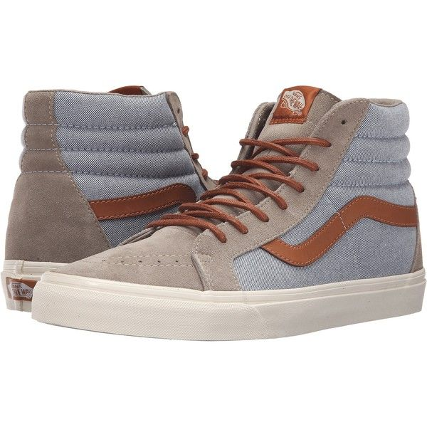 blue and brown vans high tops