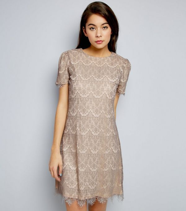 Womens Lace Detail Short Sleeve Dress Mela IlllY
